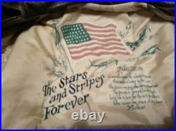 Vintage Authentic Avirex US Army Air Force Leather Flight Jacket Bomber Type A-2
