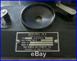Vintage Morse G-3 B2201 US Army Air Force Developer Film Tank Acc. 16/35 MM
