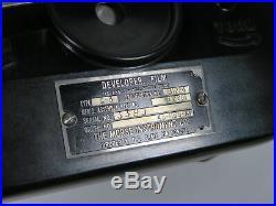 Vintage Morse Instrument Co G3 Film Developer 16mm 35mm US Army Air Forces USAF
