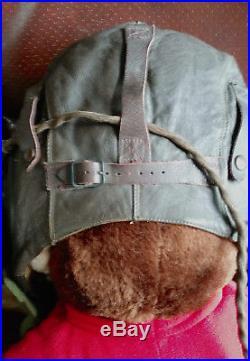 Vintage Original U. S. WWII Army Air Force Aviator Flight Helmet Set