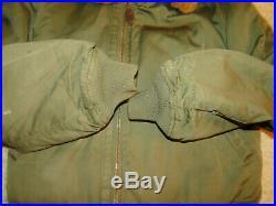 Vintage Original WW2 US Army Air Force issue B-15 flight jacket Sz 36
