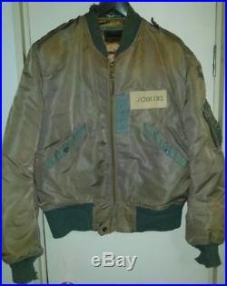 Vintage ROLEN SPORTSWEAR L2B US AIR FORCE Army JENKINS Leather Flight Jacket L