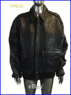 Vintage, TYPE A-2 U. S. ARMY Flyer's AIR FORCE Leather Bomber Jacket, Avirex, L