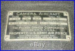 Vintage US Army Air Force Folmer Graflex K-25 K25 Aircraft Camera USAAF