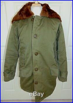 Vintage USAF US Army Air Force B-9 Parka Jacket FMM