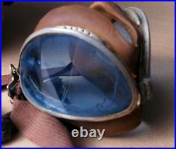 Vintage WW2 US Army Air Force Flying Helmet & Goggles Antique WWII Pilot
