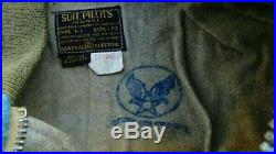 Vintage WW2 US NAVY F-1 Air Force Army Pilot Aviation JUMPSUIT Thermal Suit 42