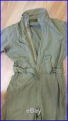 Vintage WWII Type A-4 Air Force US Army Long Sleeve Pilot Flight Suit 42