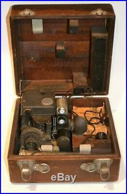 Vintage Wwii Fairchild Corp Air Forces U. S. Army Sextant A-10 A With Box