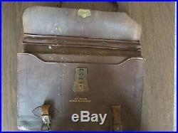 Vintage Wwii Us Army Air Force Pilot Navigator Briefcase Satchel Reenactment