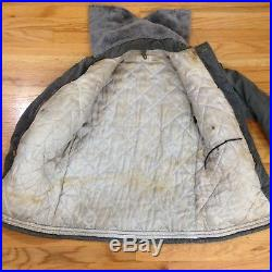 Vtg 1950s US Army Air Force Type B-9 B9 Parka Flight Jacket with Ear Muffs Med