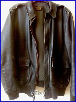 Vtg Type A-2 Flight Bomber Jacket Air Force US Army Leather 42T Flight Suits LTD