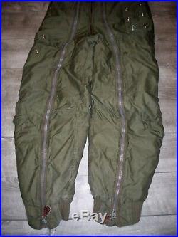 Vtg WW2 US Army Air Force A11 Flight Pants Uniform Trousers Bomber Pilot Bibs 30