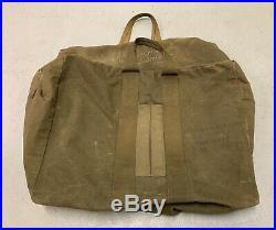 Vtg WWII US Army Air Force Aviator's Kit Bag Pilot 351st Bomb Squad Squadron ETO