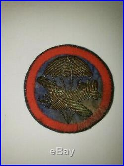 WA1-7 Original WW2 US Army Enlisten EM NCO Cap Patch Air Force AAF Bouillon