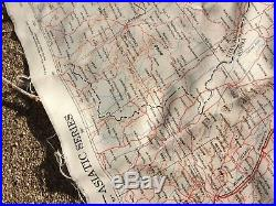 WW2 US ARMY AIR FORCES Pilot SILK MAP No. 30 & No. 31 BURMA CBI WWII RARE 1943