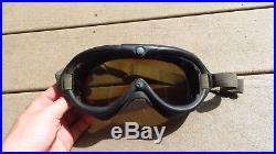 WW2 US Army AIR FORCE B-8 Flight Flying Goggles No. 1065