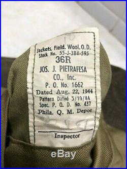 WW2 US Army Air Force Ike Jacket 15th Air Force 301st Bomb Group