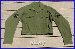 WW2 US Army Air Force Theater Made CBI Ike Jacket Shortened Flight Suit