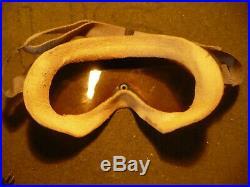 WW2 US Army Air Force Type A-11 Helmet B-8 Goggles, Oxygen Mask & Raido Head Set