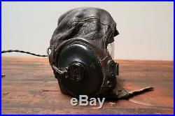 WW2 US Army Air Force Type A-II Pilot Flight Helmet Cap