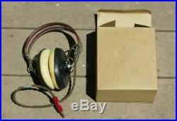 WW2 US Army Air Force USAAF Headphones Ear Phones Mint with Box