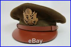 fd7a516649a WW2 US Army military uniform dress jacket visor cap hat Officer Air Force  Corp