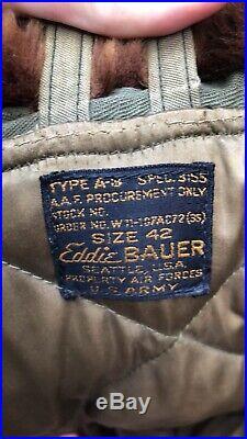 WW2 US army Airforce Eddie Bauer B9 Parka Mistake Tag