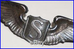 WWII Service Pilot Wings Sterling US Army Air Forces AAF USAAF Wing Badge M1334