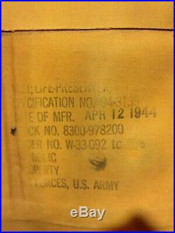 WWII U. S. Army Airforce Mae West Life Preserver