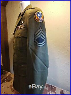 WWII US 13th Army Air Force Gunners Officers Uniform