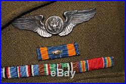 WWII US ARMY 8th AIR FORCE AIRCREW BRITISH MADE UNIFORM GROUPING