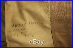 WWII US ARMY AIR FORCE 1st AAF & CBI DRESS UNIFORM NAMED GROUPING