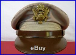 WWII US Army Air Force AAF Officer's Crusher Cap or Hat Size 7 Original NICE