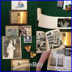 WWII US Army Air Force CATALINA HERO Pilots Group Crusher Aviators Parachute