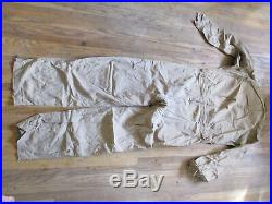 WWII US Army Air Force Flight Suit Coveralls Very Light Twill