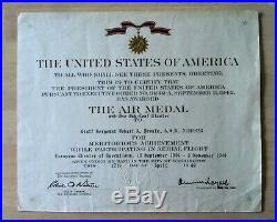 WWII US Killed in Action Air Medal Certificate 15th Army Air Force AAF KIA