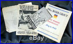 WWII US Military Army Air force 398th Bomb Group Unit History + Bonus Items