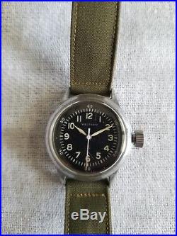 WWII WALTHAM US ARMY AIR FORCE A-11 Watch Spec 94-27834A F-42-555 W. W. 2 Military