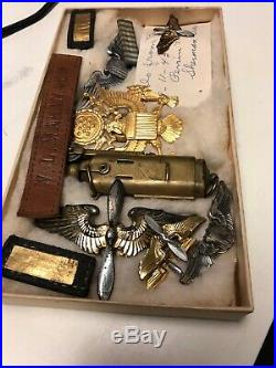 WWII WW2 US Military Lot Wings Sterling SIlver Army Air Force Lighter Pilot 3