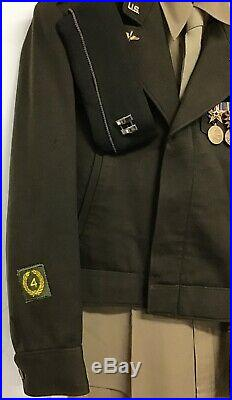 World War Two U. S. Army Officers B-13 Jacket With Medals 8th Air Force