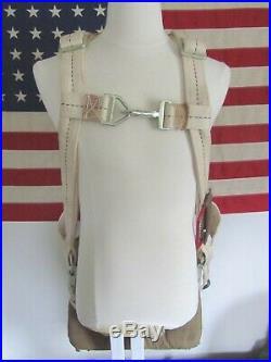 Ww2 1943 Us Army Air Force Pilots Parachute An-6510-1, Seat Cushion & Backpad +