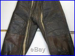 Ww2 Bomber Leather Flight Pants Type A-3 Size 38r Us Army Air Force