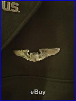 Ww2 Us Army Air Force Custom Cut Down 4 Pocket Jacket Sterling Wings Large Size