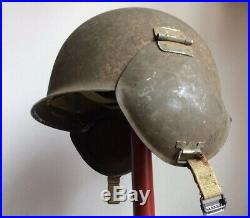 Wwii U. S. Army Air Force M3 Flyers Flak Helmet Gunner Original Vg Condition