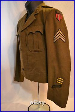Wwii Us Army Air Force Far East C. B. I. Ww2 Ike Jacket Conversion Uniform Ww2 USA