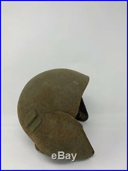 Wwii Us Army Air Force M-5 Flyers Flak Helmet With Liner-original-vintage-nice