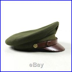 Wwii Us Army Air Forces Usaaf Officer Dress Visor Cap Hat Wool Felt Crown Size 7